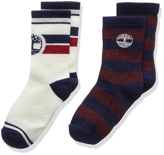 Timberland T20327 Socks (2), Calcetines para Niños, Azul (Navy),