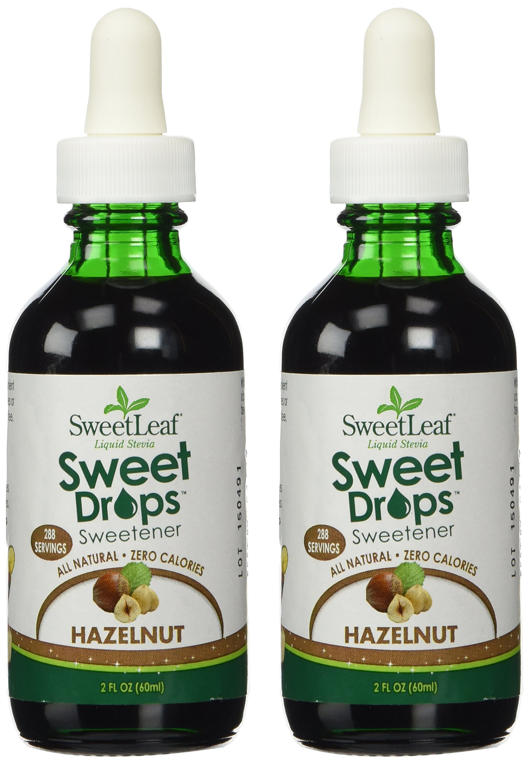 SweetLeaf Hazelnut Liquid Stevia, 2 Ounce Bottles (Pack of 2)