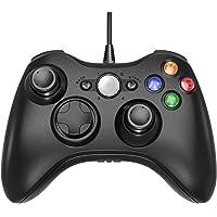 Controller GamePad Joypad USB con Vibrazione per PC Windows Xbox 360, Nero