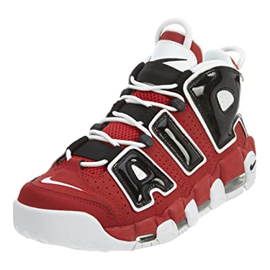 Nike Men's Air More Uptempo Mid Basketball Sneakers Red Black Size 11. 5 D (