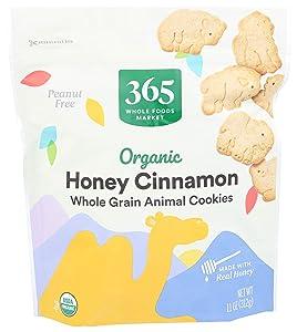 365 by Whole Foods Market, Organic Whole Grain Animal Crackers, Honey Cinnamon, 11 Ounce