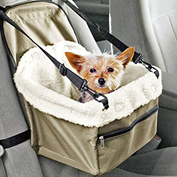 Pet Booster Seat >> Prime Paws Folding Dog Travel Booster Bag Cat Puppy Pet Car Seat Carrier Safety Belt Cover