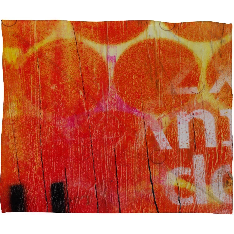 Deny Designs Sophia Buddenhagen Orange Fleece Throw Blanket 60 x 80 13415-flelar