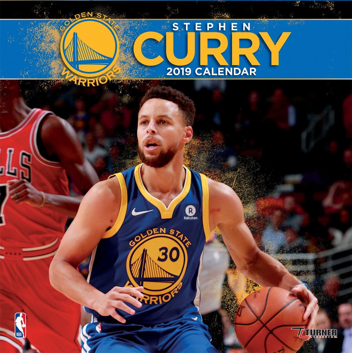 Turner 1 Sport Golden State Warriors Stephen Curry 2019 12X12 Player Wall Calendar Office Wall Calendar (19998011984)