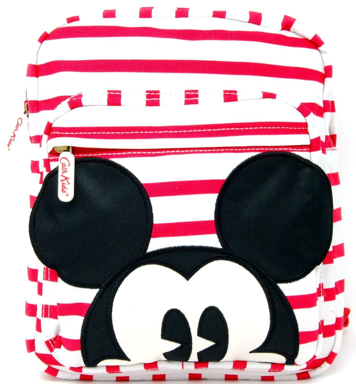 Cath Kidston Medium Backpack 'Mickey Strip' Red