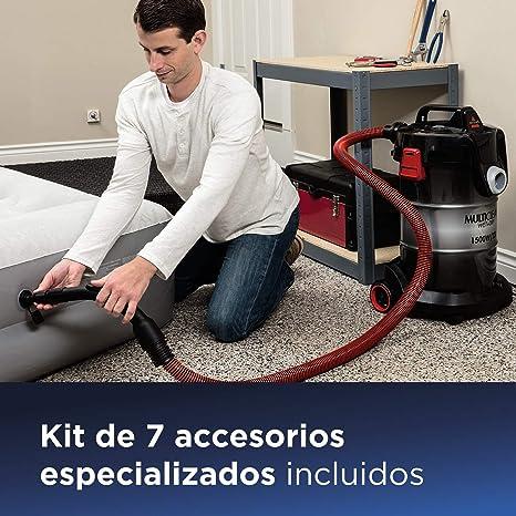 0.5 litros Tit/án//Azul 450 W 78 Decibelios Bissell Featherweight Pro Vertical para Suelos Duros con Aspirador de Mano extra/íble