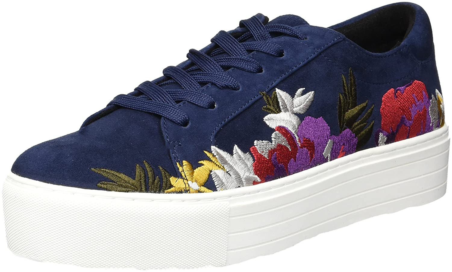 Kenneth Cole New York Women's Abbey 2 Platform Lace-up Embroidered Sneaker B073XLD7CS 7 B(M) US|Navy
