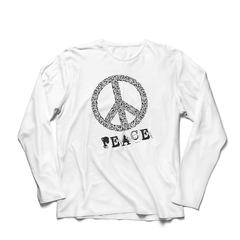 lepni.me Men's T-Shirt Peace Sign, Cool Hipster Swag Outfit, Festival Hippy Holiday VACOM ADVARTAIZING Ltd