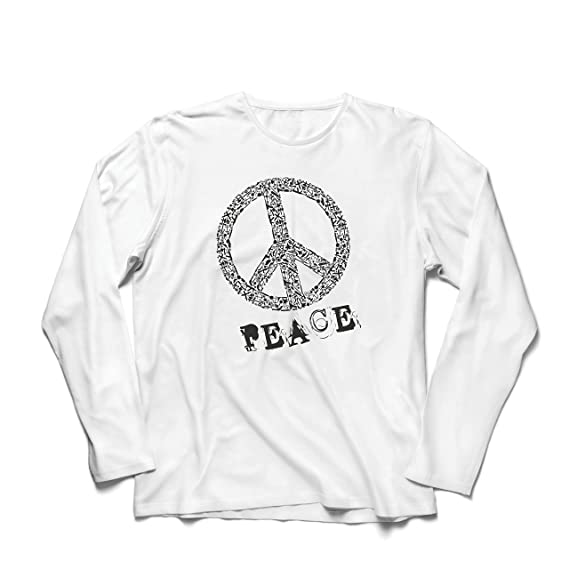 lepni.me Camiseta de Manga Larga para Hombre Símbolo DE Paz - 1960s Hippies Hippie Festivals, Signo de la Paz, Summer Festival Hipster Swag: Amazon.es: Ropa ...