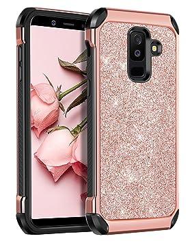BENTOBEN Funda Samsung Galaxy A6 Plus 2018, Ultra Delgada Cáscara Case Cover Brillante Resistente Anti-Golpes PC Hibrida+ TPU Suave Silicona Fundas ...