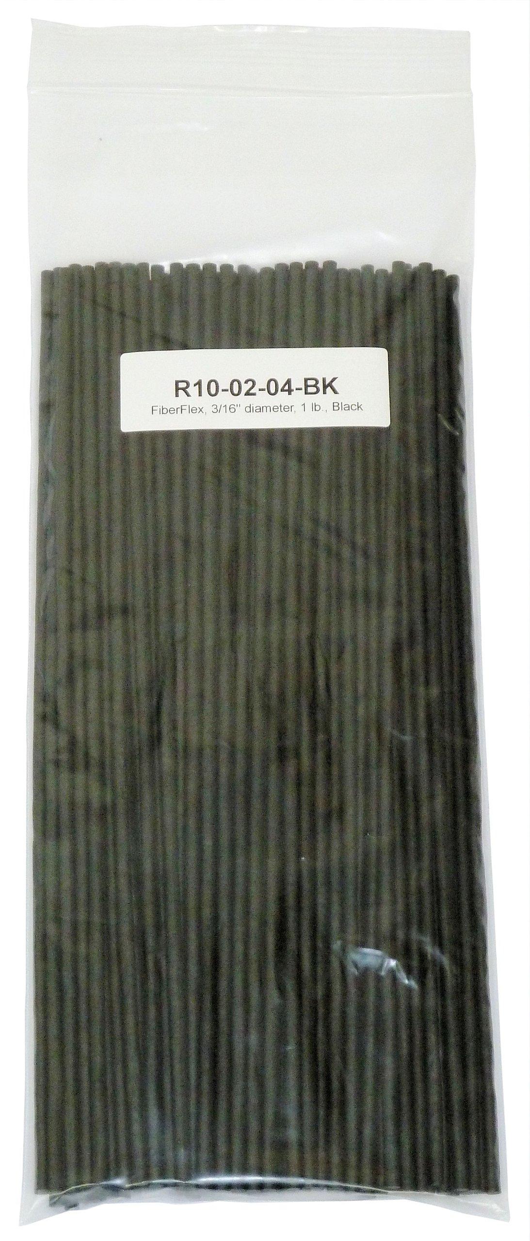"Polyvance FiberFlex Plastic Welding Rod, 3/16"" Diameter, 1 lb, Black"