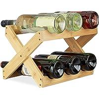 Relaxdays botellero Vino 6 Botellas Plegable en Forma