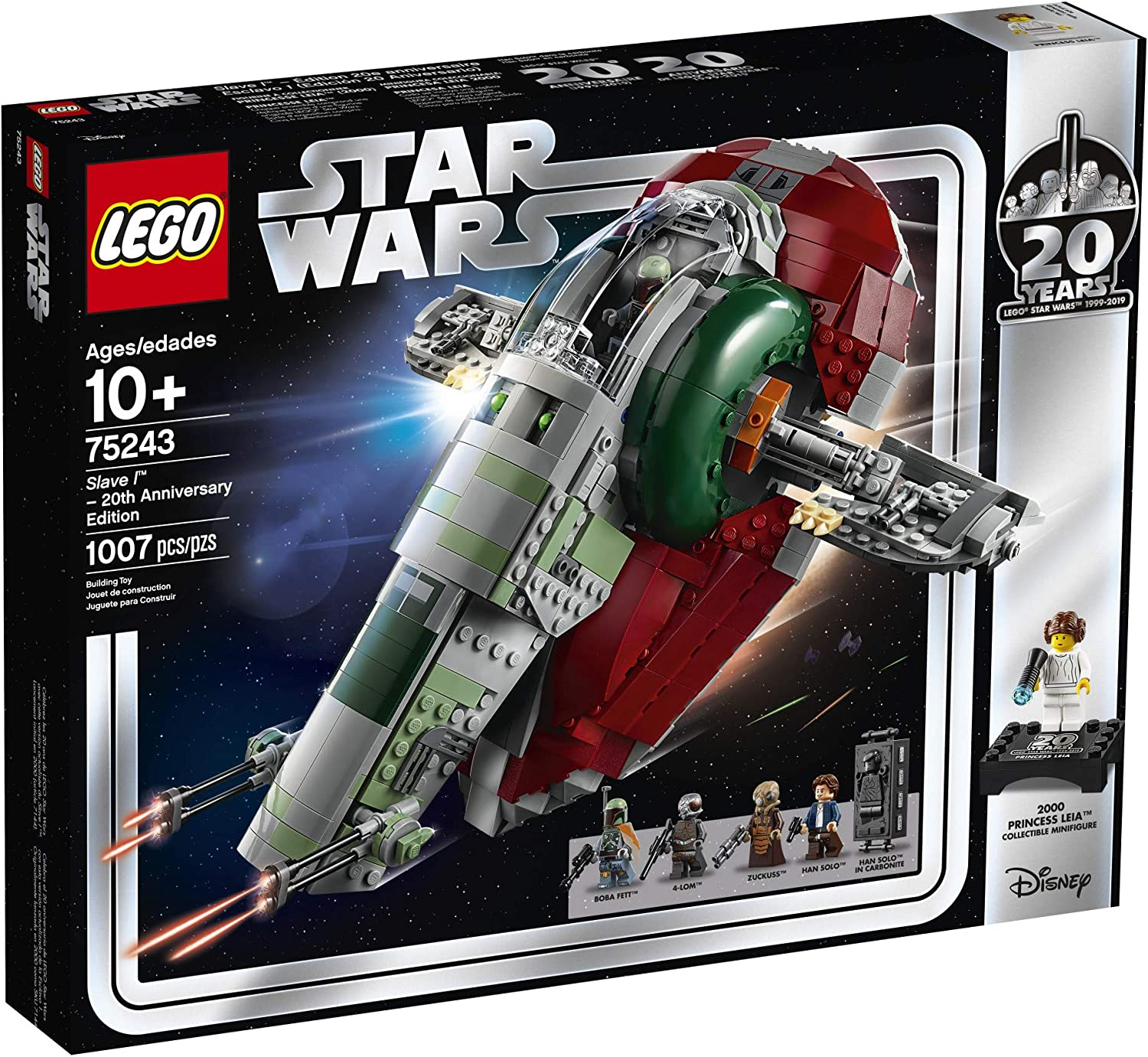 Lego 75243 Star Wars Slave 1 with sticker sheet and instructions ONLY