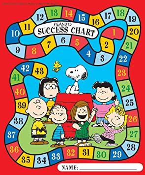 Eureka Peanuts Characters Mini Reward Charts with Stickers, Package of 36