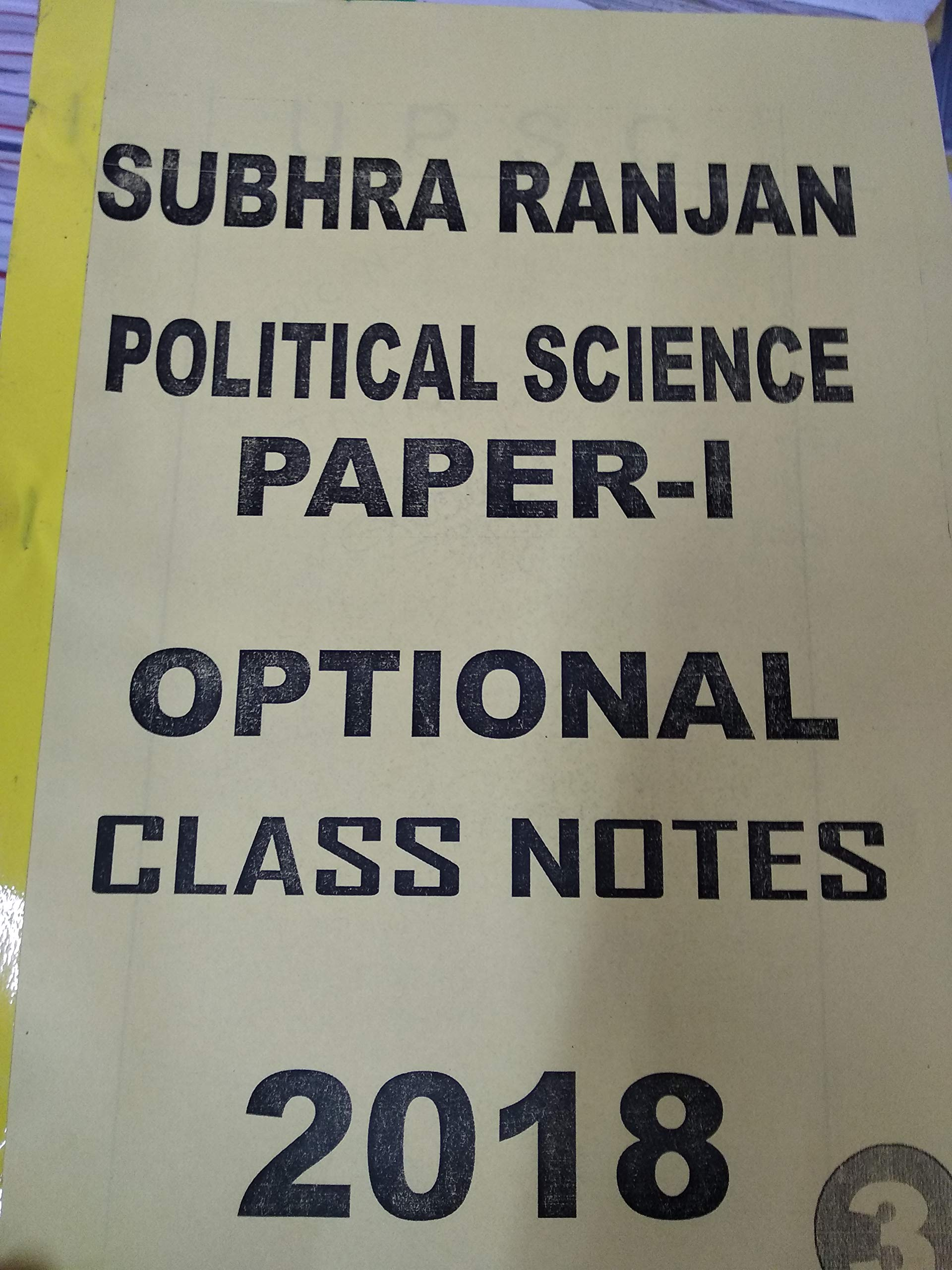Shubhra Ranjan's Political Science Latest Class Notes 2018