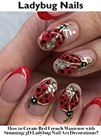 Amazon Ladybug Nails How To Create Red French Manicure With