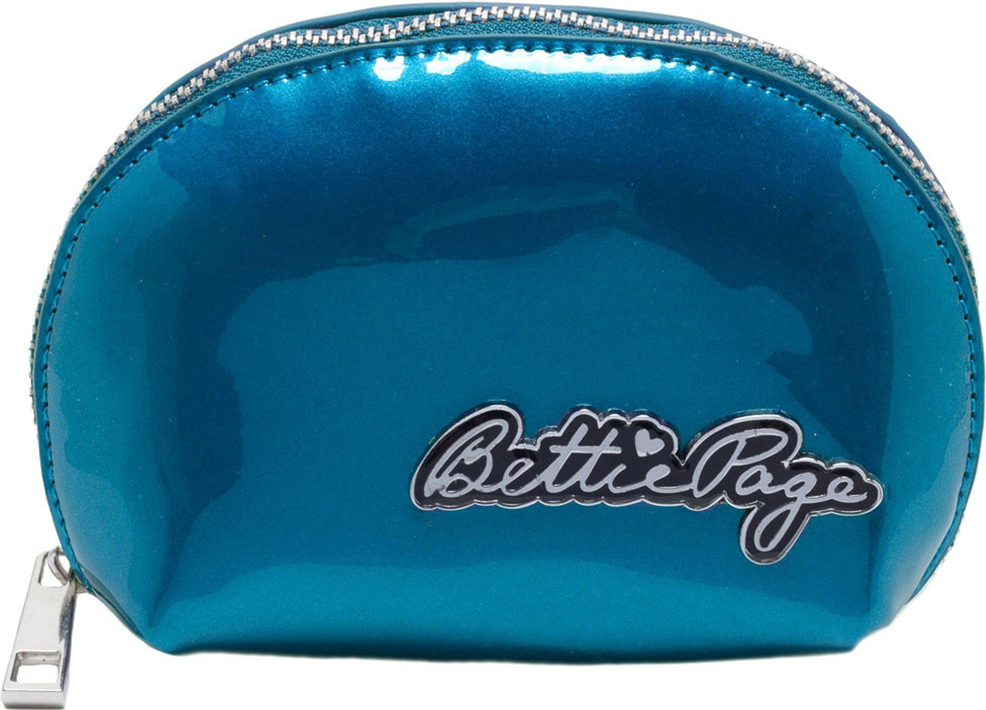 Glossy Blue Bettie Page Makeup Bag - Sourpuss Brand