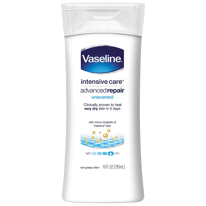 Vaseline Intensive Care Lotion Advanced Repair Unscented 10 oz