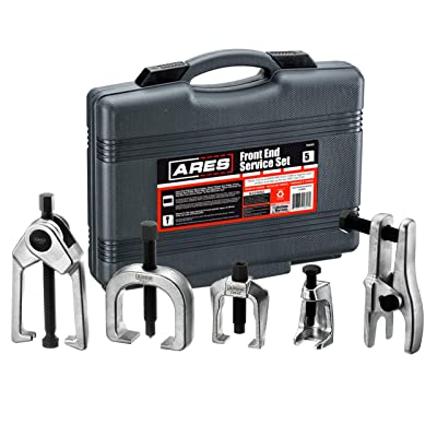 ARES 70840 | Front End Service Set | Allows for Easy Removal of Most Popular Types of Pitman Arms, Tie Rods and Ball Joints Storage Case Included: Automotive