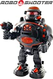 Remote Control Robot - RoboShooter Black & Red Robot Toy - Fires Discs, Dances, Talks - Super Fun RC Robot TG542-R by ThinkGizmos