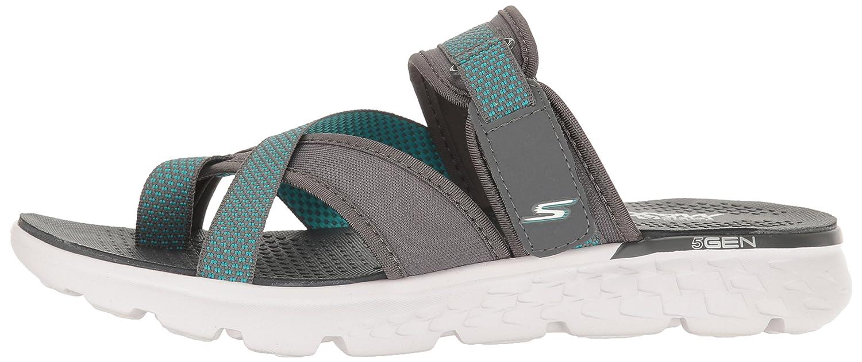 Skechers Infradito per Donna Modello Tecnico Colore Nero con Velcro