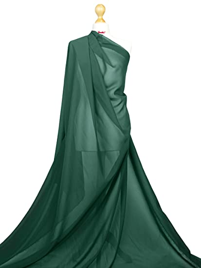 "1 mtr white cationic sheer bridal,dress chiffom fabric..58"" wide 147cm"