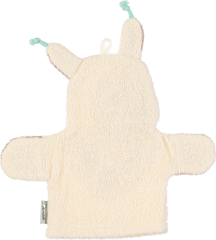 Blanc Lama Lotte Sterntaler Gant de Toilette Interactif Zoo C/âlin Taille : 26 x 24 cm