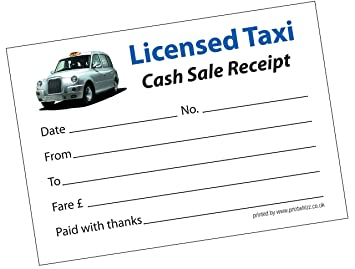 3 x Licensed Taxi Minicab Receipt Pad