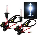 Mega Racer H7 Xenon HID Conversion Bulb 8000K Sky Blue Light (Low Beam Headlight) Replacement (Ballast Require) Car USA