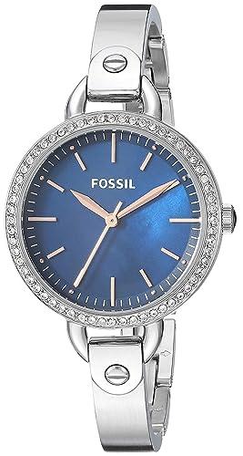 Fossil BQ3304 - Reloj de Cuarzo para Mujer, diseño clásico de Minute, Color Plateado: Amazon.es: Relojes