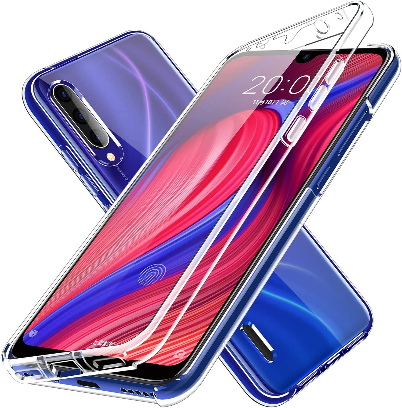 Funda para Xiaomi Mi A2 Lite - Carcasa Completa Anti-Shock [360°] Full Body Protección [Silicona TPU Frente] y [Duro PC Back] para Xiaomi Mi A2 Lite - Cover Doble [Transparente]