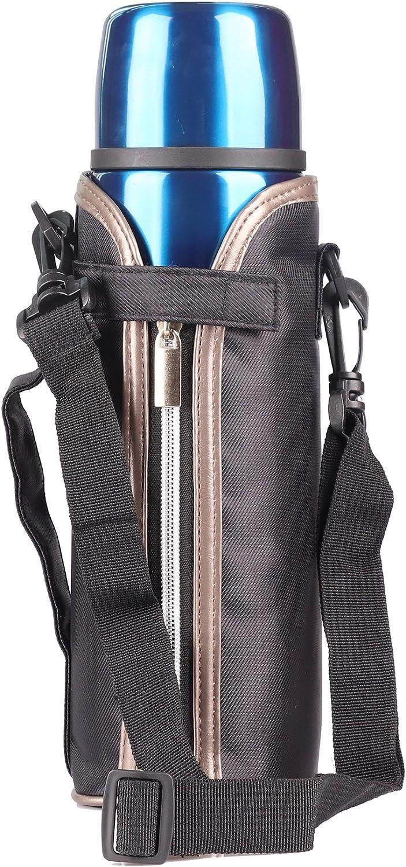 1000ml Thermos in acciaio INOX da caff/è da 1.0/l doppia parete thermos thermos in acciaio INOX Beverage bottle-travel borraccia inclusa la custodia per il trasporto Acciaio inossidabile Blue