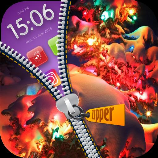 Christmas Zipper Lock : Snow Man Wallpaper - Online Von Zipper