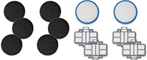 Fette Filter - Vacuum Filter Kit Compatible with Hoover React 440010868, 440011113, 440010860 Upright Vacuum. (4 HEPA Filters, 2 Pre Filters, 6 Carbon Filters)