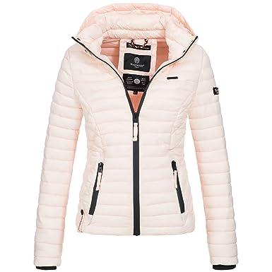 Marikoo SAMTPFOTE Damen Stepp Jacke Daunen Look Gesteppt Übergang XS-XXL 11- Farben  Amazon.de  Bekleidung 63092ff870