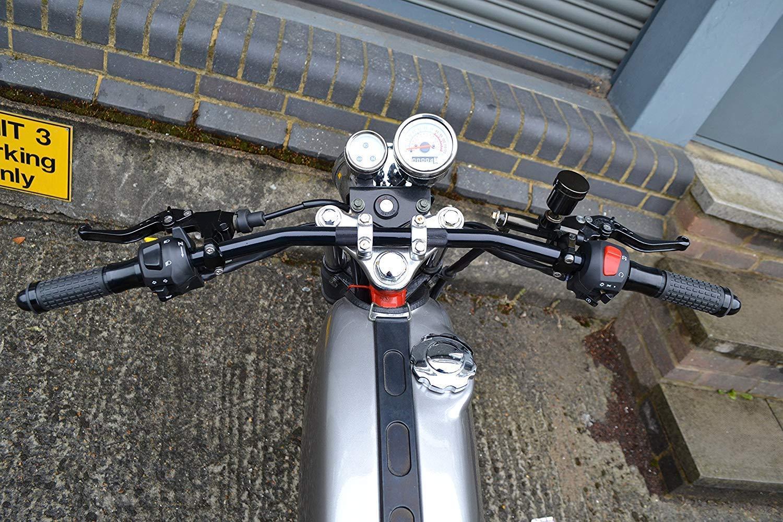 Haute Qualit/é Moto Acier 22mm 7//8  Noir Guidon Poign/ées