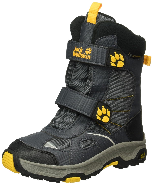 gris (Burly jaune Xt 3802) 37 EU Jack Wolfskin S S Polar Bear Texapore, Chaussures de Randonnée Hautes garçon