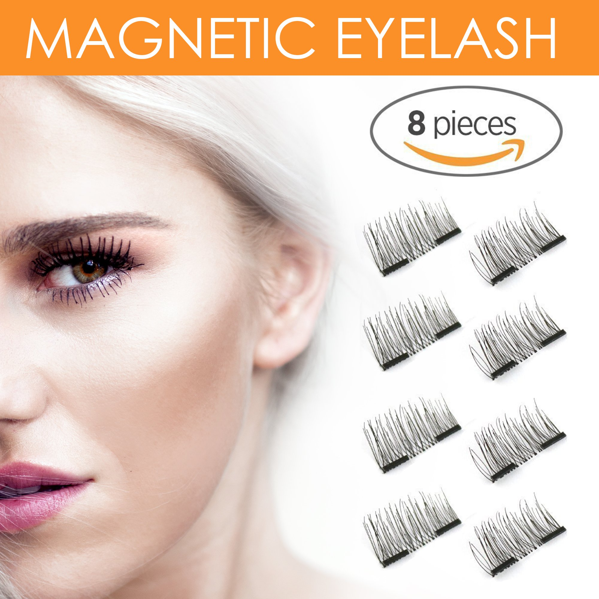 Amazon Magnetic Eyelashes Plus Tweezers Reusable Glue Free