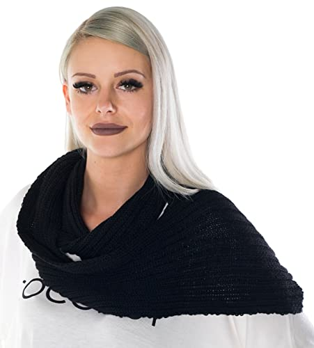 HO-Ersoka sciarpa delle signore anello sciarpa a maglia design Autunno / inverno / primavera nero