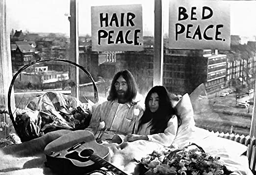 Mile High Media John Lennon Yoko Ono Canvas Poster 13x19 Fine Art Black And White Print Bed Peace Hair Peace Amazon Ca Home Kitchen