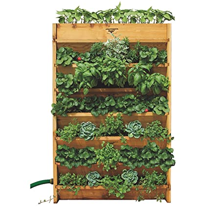 Vertical Garden Pot Amazon gronomics vg3245 vertical garden planter 32 inch by 45 gronomics vg3245 vertical garden planter 32 inch by 45 inch by 9 workwithnaturefo