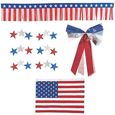 Patriotic Bunting Car Parade Decorating Kit - Party Decor - 19 Pieces: Health & Personal Care