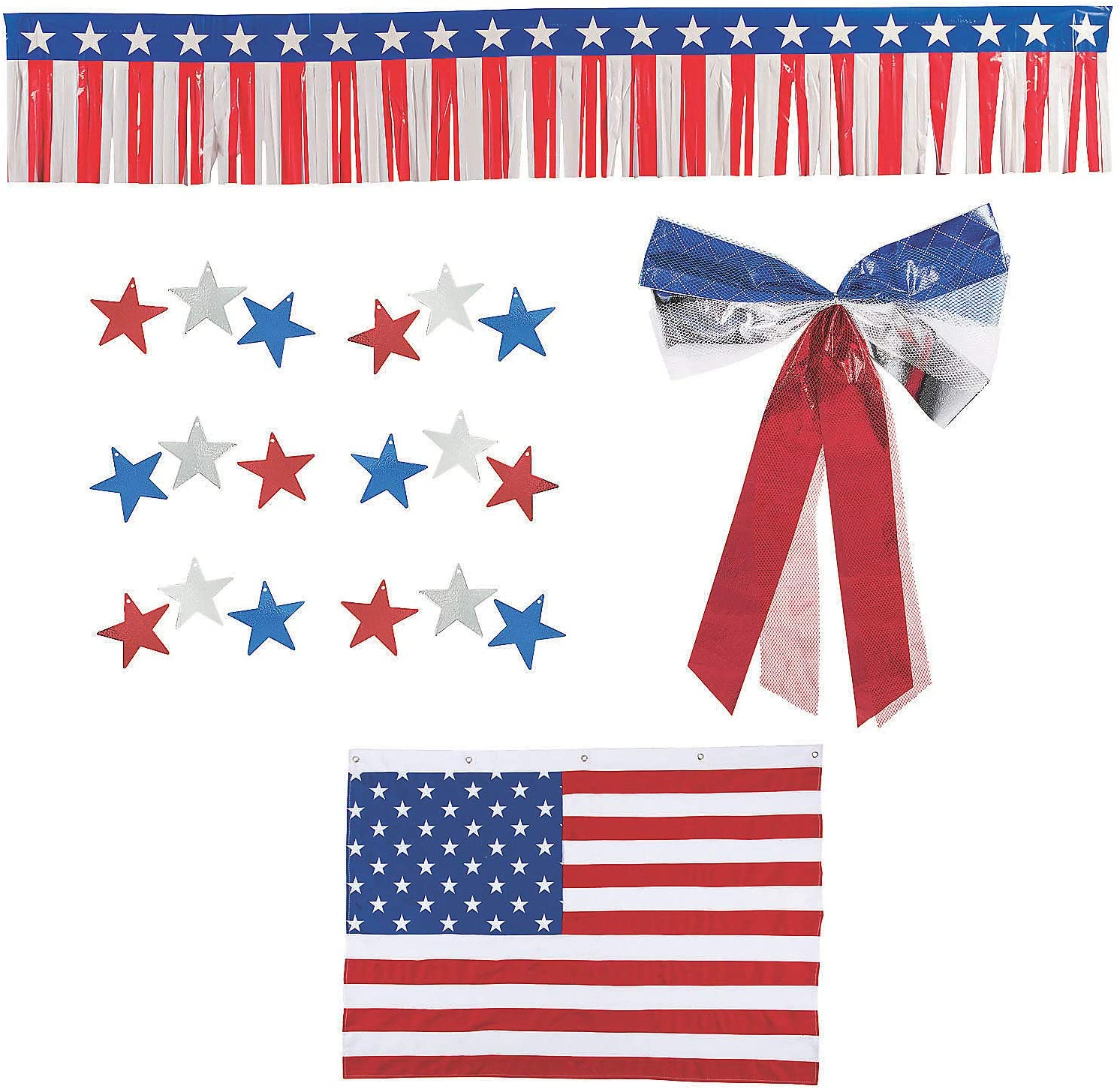 Amazon Com Patriotic Bunting Car Parade Decorating Kit Party Decor 19 Pieces Health Personal Care