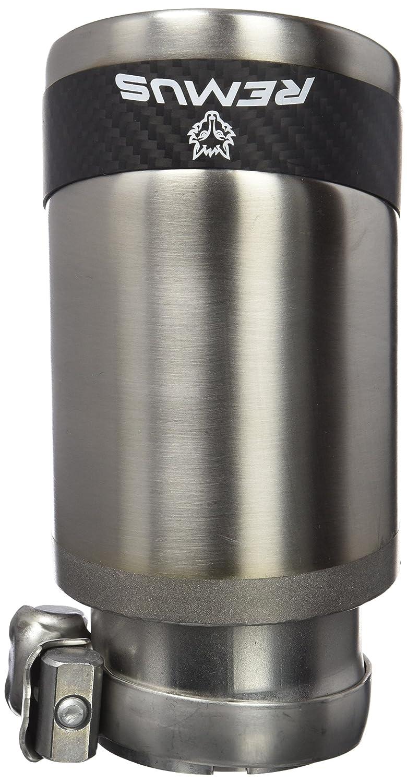 Remus rem002683cs Carbon Race queue d/échappement Set de 2 connexion avec serre-joints sph/érique ajustable /ø 84/mm