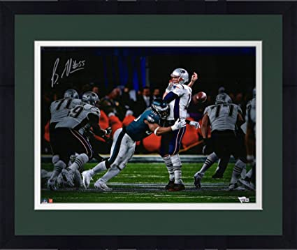 8c3c21b7a Framed Brandon Graham Philadelphia Eagles Autographed 16 quot  x 20 quot   Sack Fumble Super Bowl LII