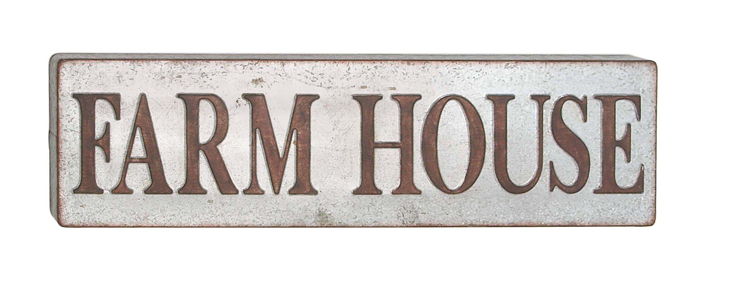 Deco 79 64335 Wall Sign, Bronze/White