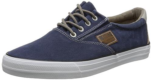Mustang 4127-304-800, Zapatillas Sin Cordones Para Hombre, Azul (Dunkelblau), 42 EU: Amazon.es: Zapatos y complementos