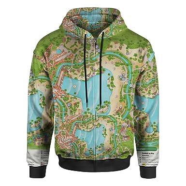 Amazon.com: Typhoon Lagoon Map Men Zip Up Hoodie: Clothing