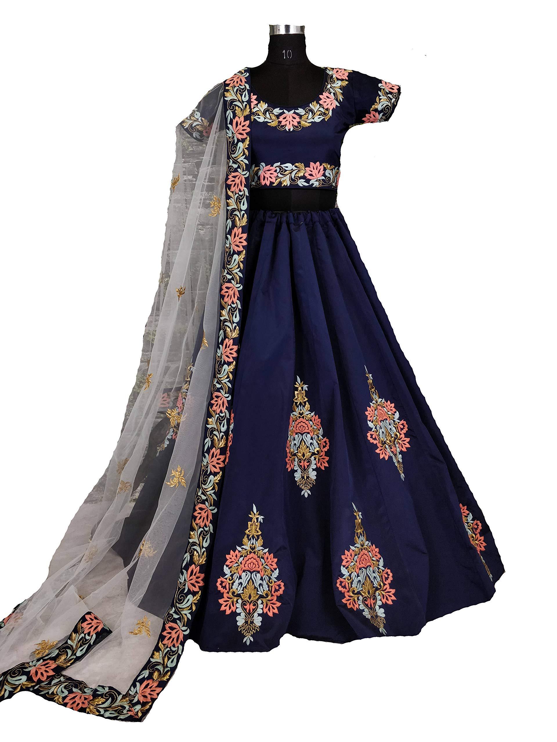 Delisa Semi Stitch Indian/Pakistani Fashion Choli Women (Blue)