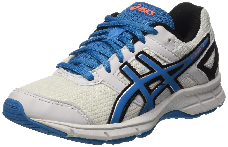 Asics Gel-Galaxy 8 GS - Zapatos de Entrenamiento de Carrera en Asfalto Unisex niños 40 EU|Multicolore (White/Methyl Blue/Black)